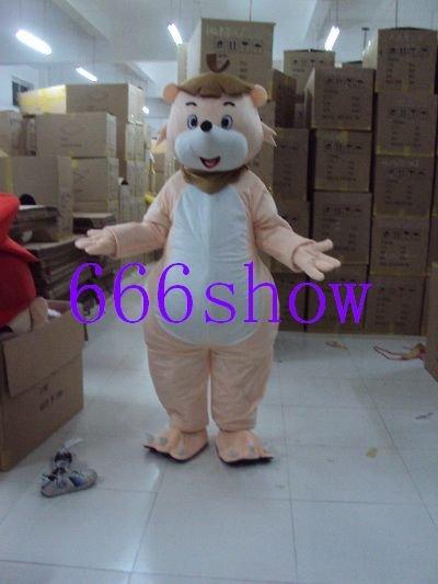 Shallow pink bear mascot costume Christmas Adult Cartoon(China (Mainland))
