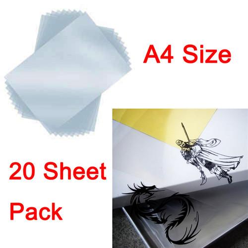 20 Sheet/Set A4 Transfer Printing Film For Inkjet Printer Paper Screen Printing FT-100 Printing Super PET Transfer Film(China (Mainland))