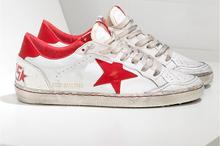 Золотой гусь красный звезды настоящее кожа у старых мужчины и женщины свободного покроя кроссовки обувь GGDB влюблённые обувь