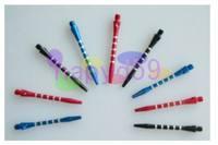 3pcs aluminum dart shaft darts accessories anti-break durable senior dart pole various colors
