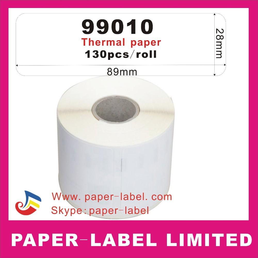 20X rollsDymo 99010, 28*89mm*350 labels per reel, Free Shipment By Express Door to Door(China (Mainland))