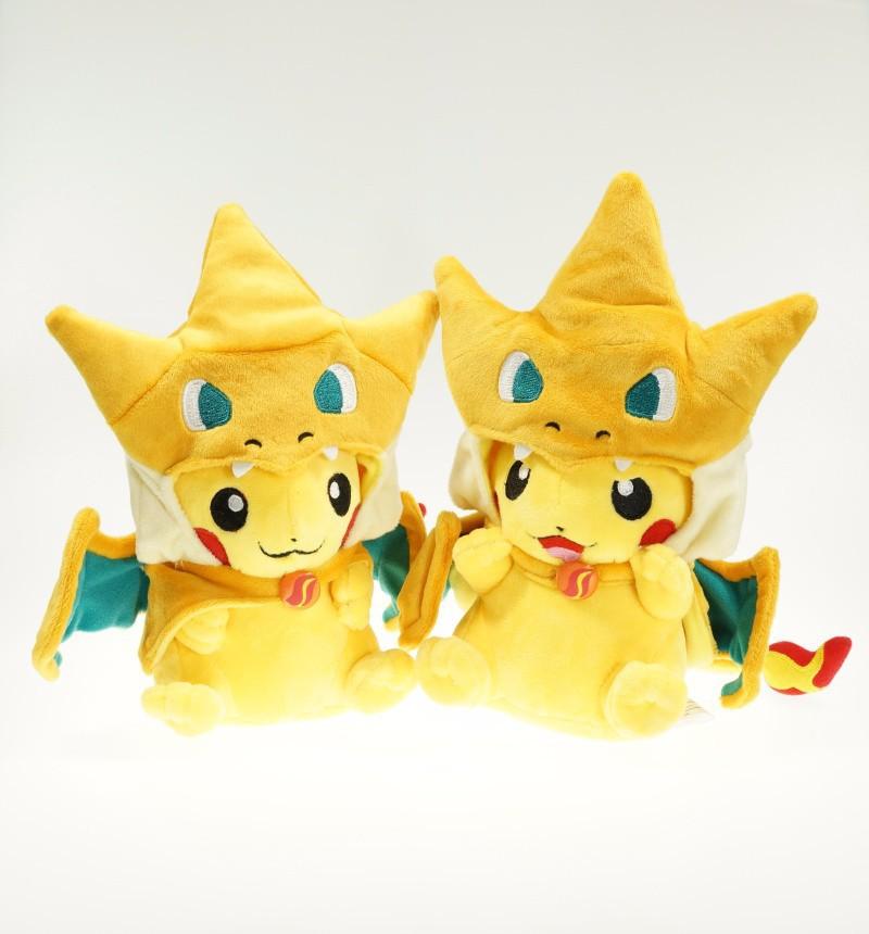 2015 New Pokemon Pikachu Cosplay Charmander Plush Toys Cute Pokemon Plush Stuffed Animals Soft Toys Fashion Cartoon Plush Toys(China (Mainland))