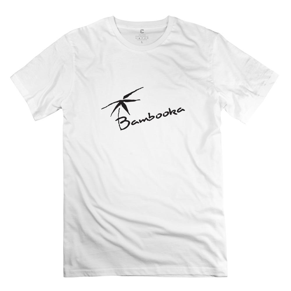 new 2014 bamboo logo Men t shirt custom o neck t-shirt men(China (Mainland))