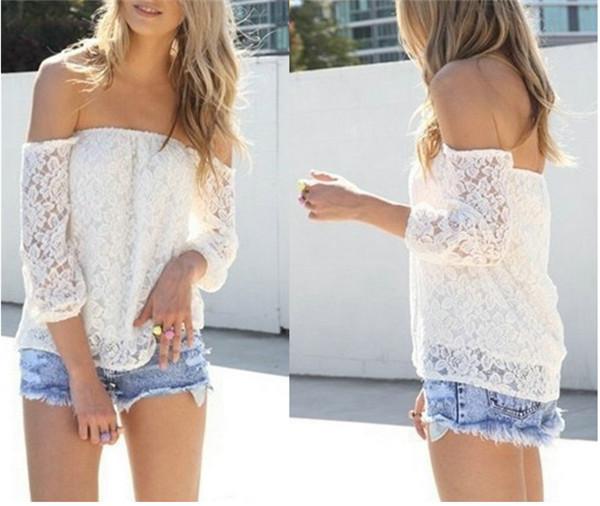 Женские блузки и Рубашки Brand New 2015 blusa женские блузки и рубашки romantic beach blusa femininas2015 sh022