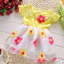 Free shipping summer of 2015 new baby girls short sleeved dress kids sweet princess dress A146(China (Mainland))