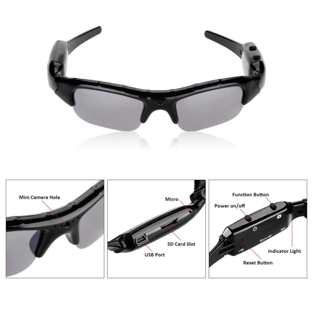 Fashion Outdoor Driver Sunglasses Mini Camera CMOS Digital Video Recorder DVR DV Eyewear Camcorder Audio -Support TF Card Slot(China (Mainland))