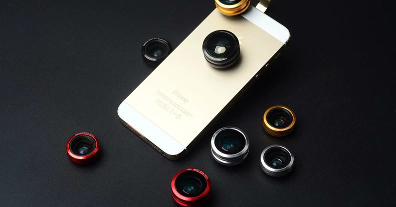 Tracking number 3 In 1 Universal Clip Mobile Phone Lens for iphone Samsung HTC Fish Eye lens + Macro + Wide Angle Free shipping(China (Mainland))