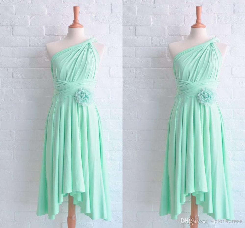 Mint Blue Bridesmaid Dresses Junior