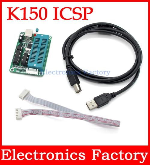 PIC USB Automatic Micro Controller Programming Develop Microcontroller Programmer K150 ICSP +Cable(Hong Kong)
