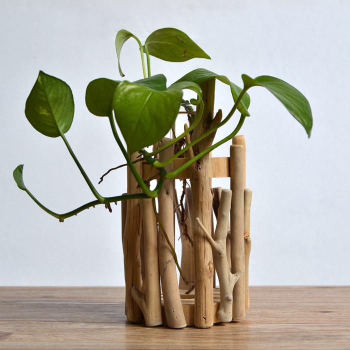 Compre f habitat lento enfeites de madeira artesanal vida hid - Echelle decorative pour plantes ...