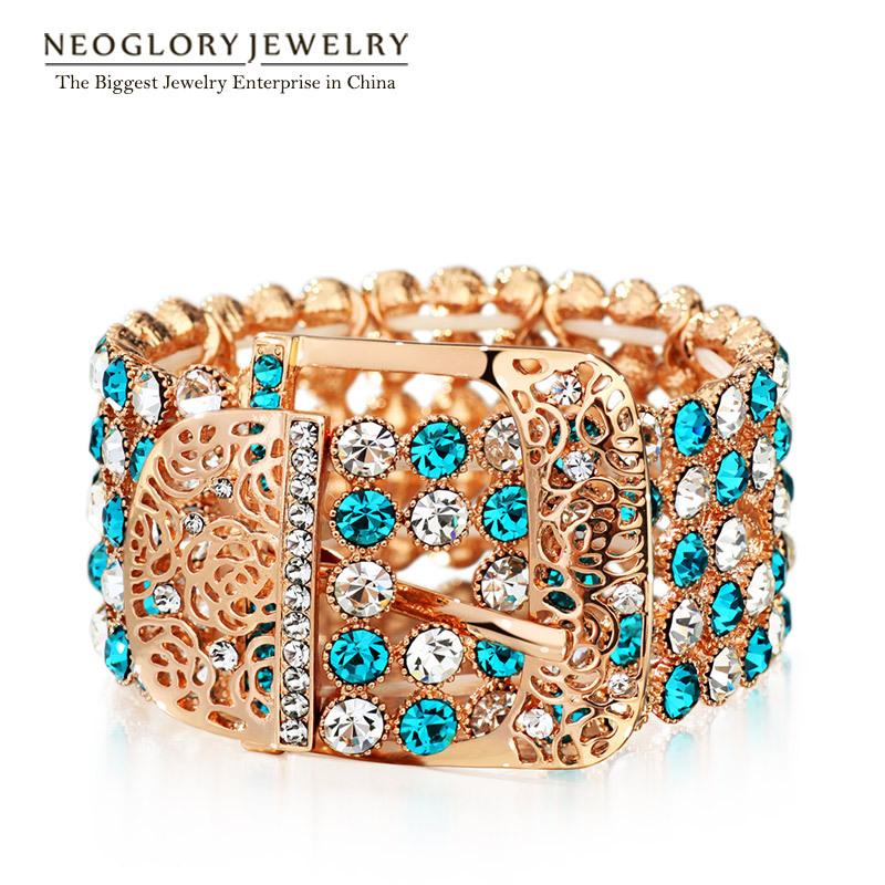 Браслет-цепь Neoglory Jewelry Neoglory SWAROVSKI & 2015 бижутерия neoglory 014