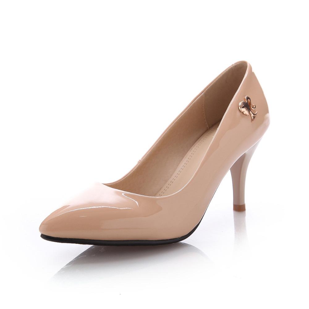 Mid Heel Nude Shoes