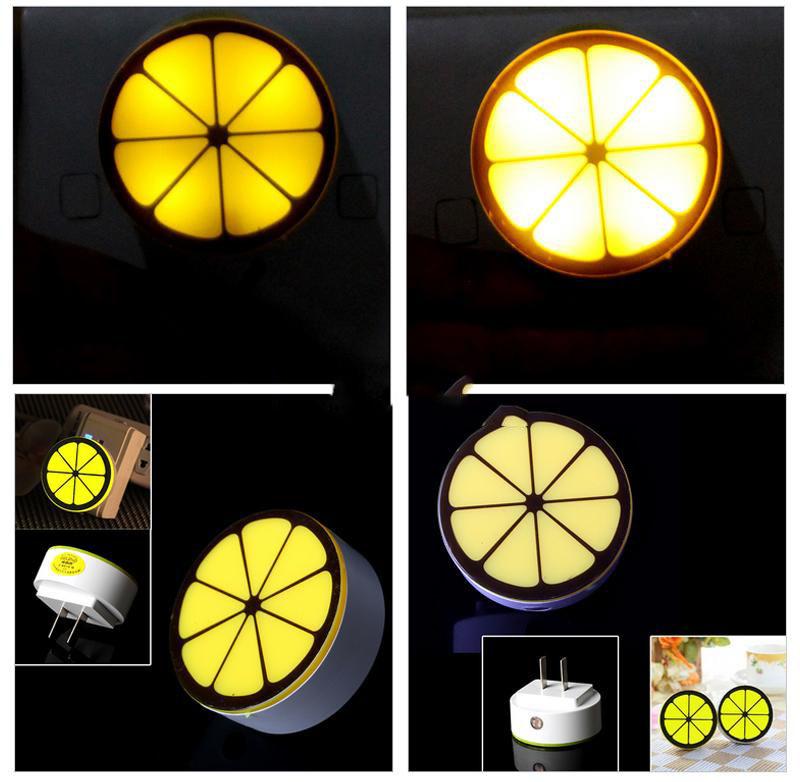 DigitalMart Five stars Optical Control LED Night Light Control Lemon Shape Auto Sensor Bedroom Lamp Cheap!!(China (Mainland))