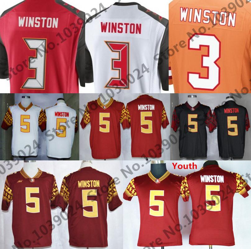 Newest 2015 Football Draft #3 Jameis Winston Jersey Black White FSU 5 Jameis Winston Florida State Seminoles College Jersey(China (Mainland))