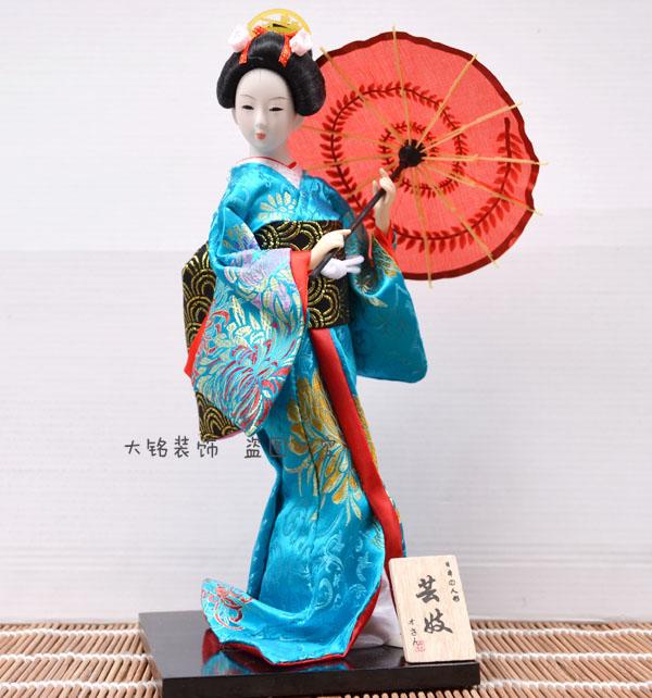 Free shipping Japanese Geisha Dolls kimono doll japanese style home decoration doll crafts(China (Mainland))