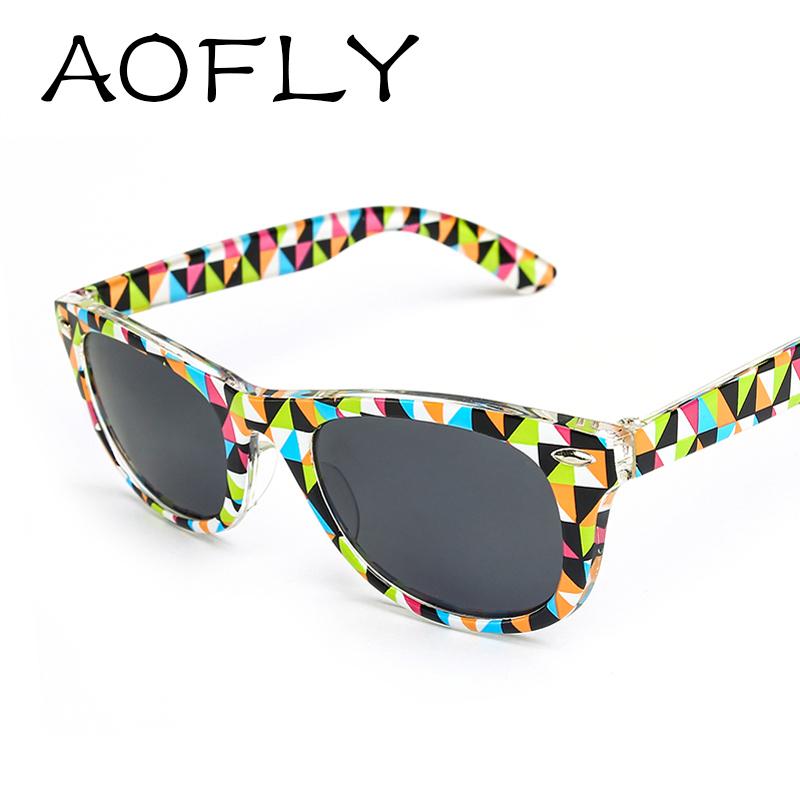 Vintage Printing wayfarer sunglasses women Multicolor Fashion Cool oculos de sol Brand Designer men Sun Glasses
