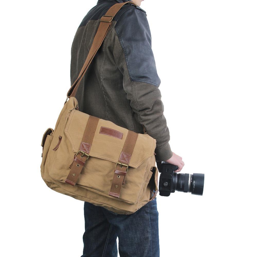 Large Size 30*20*12cm Photo Camera Sling Shoulder Bag DSLR Digital SLR for Nikon Canon Messenger Bag Handbag Camera Bags Pouch(China (Mainland))
