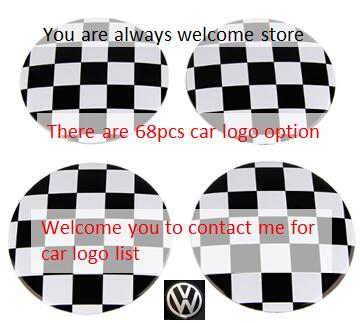 50set [4pcs] Automotive wheel center cap labeling / for 68 car logo VW Seat wheels modified labeling mix order available(China (Mainland))