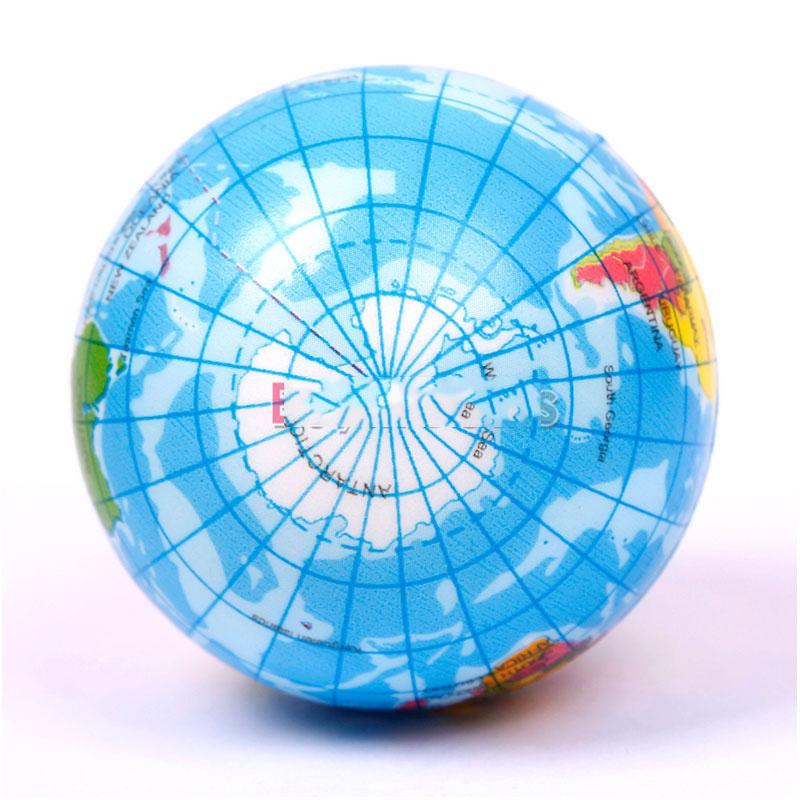 DigitalMart Five stars World Atlas Geography Map Earth Globe Stress Relief Bouncy Foam Ball Kids Toy Cheap!!(China (Mainland))
