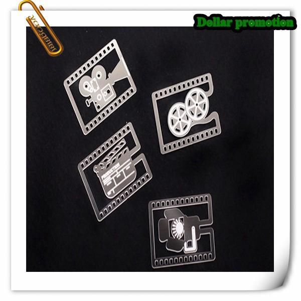 Free shipping !40pcs/lot Movie Bookmarks Camera Film Reel Slate Metal Book Mark Wedding Favors School Stationery(China (Mainland))