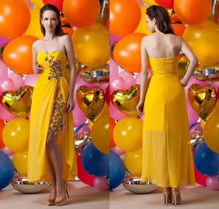 2015 nieuwe sexy glanzende pailletten appliques sweetheart chiffon zomer cocktail jurken prom toga afstuderen toga zy3167 ceremonie(China (Mainland))