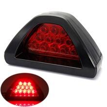Universal Car 12 LED Rear Tail Brake DRL Stop Light Strobe Fog Lamp F1 Style Red(China (Mainland))