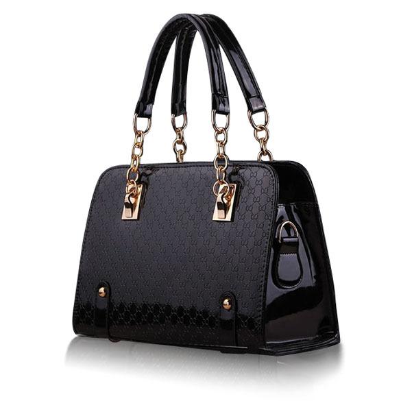 Classical Design Women Embossed Messenger Bag PU Patent-leather Handbag Shoulder Bags Tote Purse Ladies Hobo Bag E#(China (Mainland))