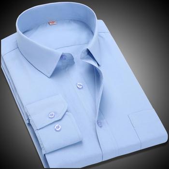 Новое мужчины рубашка дешевые твердые бизнес формальные рубашки с длинным рукавом ...