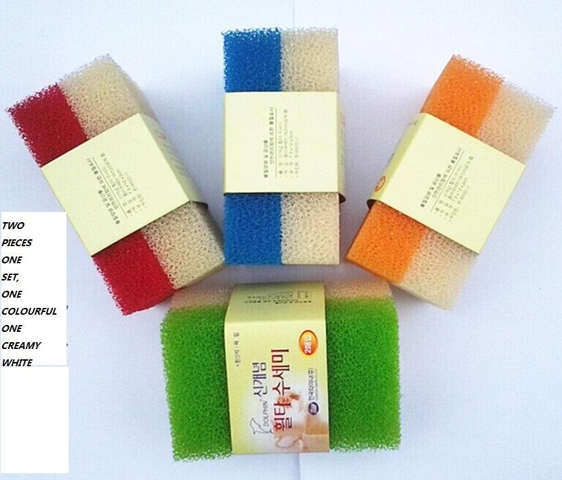 2pcs/Set washing Dish Cloth Sponge Colorful Wash cleaning Magic Power House Cleaner(China (Mainland))