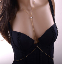C0065 foreign trade summer explosion models hot sexy bikini body gold Pearl chain bodychainB12 b3xr