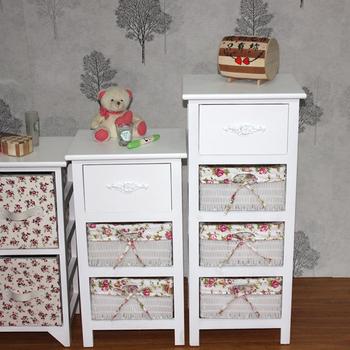 Aliexpress.com: Koop witte rieten lade nachtkastje kasten kast houten ...