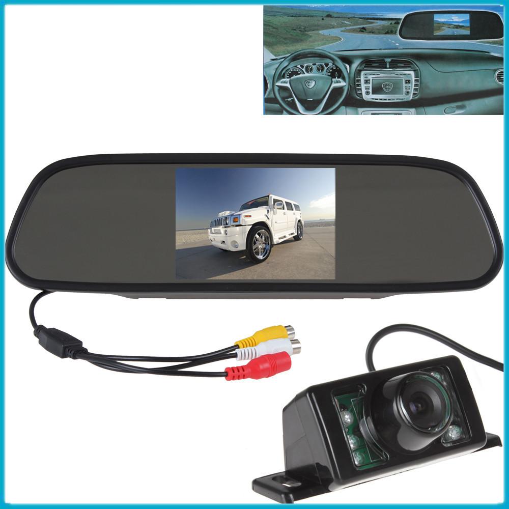 480 x 272 5 Inch Color TFT Car Monitor Car Rear View Monitor LCD Screen+ 7 IR Lights Water-proof Monitor Car Rear View Camera(China (Mainland))