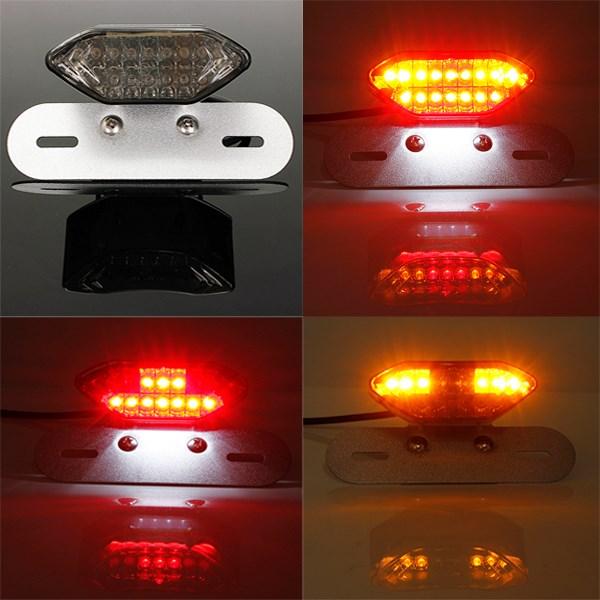 20 LED ATV Dirt Bike Motorcycle LED Tail Turn Signal Brake License Plate Integrated Light Lamp E-mark Chopper(China (Mainland))