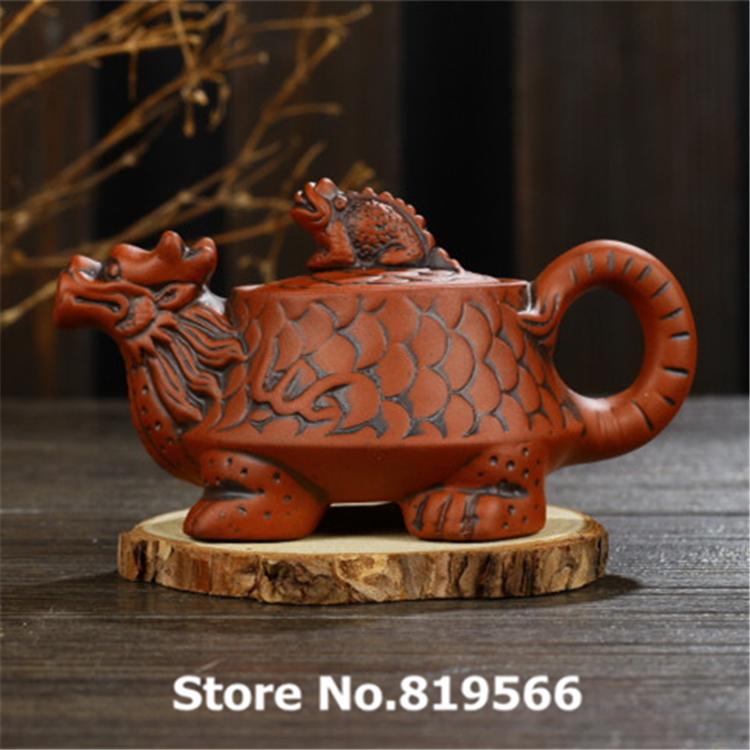 new zisha clay teapot chouzhou pigmented purple sand kung fu ceramic tea pot set chinese Dragon