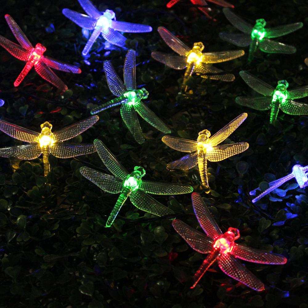 Solar Outdoor Lights String : garden decoration lamp solar garden lights outdoor lighting string
