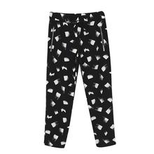 Fashion Women pants New 2015 Harem Pants Casual All-match leisure pants Haren stamp loose chiffon flower pants 1615(China (Mainland))