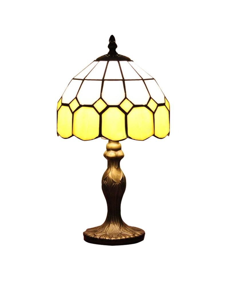 DHL Free Ship Table Lamps Modern Tiffany Lime Glass Desk Light Fixture Mediterranean Sea Style Bedroom E14 110V-240V(China (Mainland))