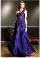 Free shipping good one-shoulder  bridesmaid dress/ fashion sexy  evening dress/ wedding gown / party dress