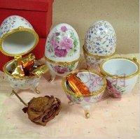 Free shipping --Wholse Jingdezhen Ceramic jewelry personalized candy box - lovely beautiful flower Qing