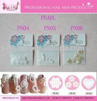 free shipping pearl 3types mixed nail art
