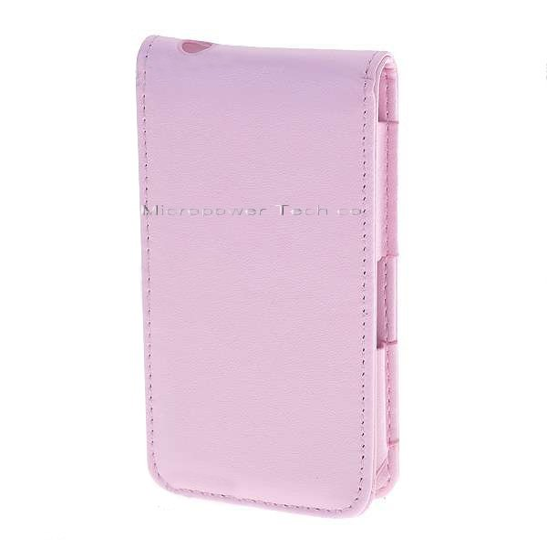 Protective PU Leather Case for iPhone 4 (Pink)(China (Mainland))