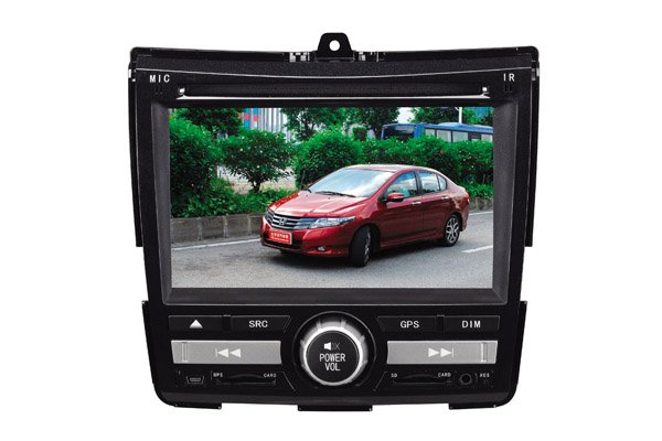 1 year warranty+free reversing camera7 inch HD Touchscreen GPS Car DVD Player for Honda - New CITY(China (Mainland))
