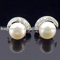 Sterling silver 925 pearl earring