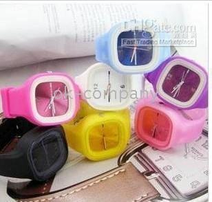 100pcs jelly Fashion Watches South Korea Silicone Bracelet jelly watch  Watch Watches