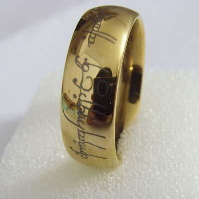 5PCS Wholesale Lord Ring Tungsten Carbide Gold Plat Mens Wedding Brand