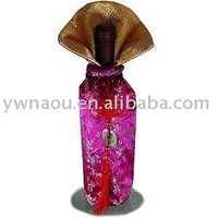 Wholesale Free Shipping Brocade Wine Bottle Pouch,Wine bottle cover,wine bottle decoration