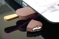 USB flash disk/usb memory/interesting product/gift/4GB usb/ice cream shape,2pcs/lot+Free shipping!
