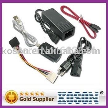 Free shipping USB to IDE+SATA Power Converter Adapter HDD Laptop  KS2223