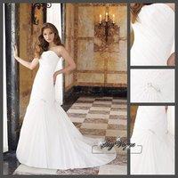 SP1915 2014 Hot New Stock US 2-4-6-8-10-12-14-16-18-20 Taffeta Ruched Beading Diamond Wedding Dress Bridal Gown