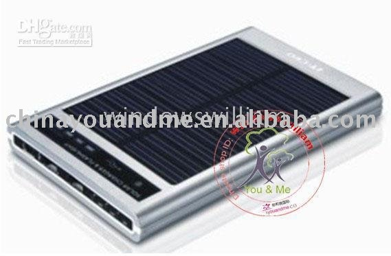 10pcs Solar Power Charger for cell phone Camera PDA MP3 MP4 (NB012) solar charger H K post(China (Mainland))